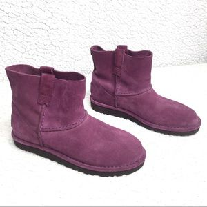 UGG Purple Classic Unlined Mini Suede Ankle Boots